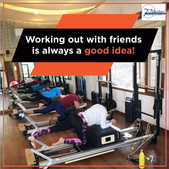 #MondayMotivation: Bring a friend along & make your fitness journey fun too.  What better way to lead an active healthy lifestyle & enjoy buddy time too?  Contact us for queries on: 9099433422/07940040991 www.pilatesaltitude.com . . . #Ahmedabad #India #FitIndia #Fitness #ThePilatesStudio #HumFitTohIndiaFit