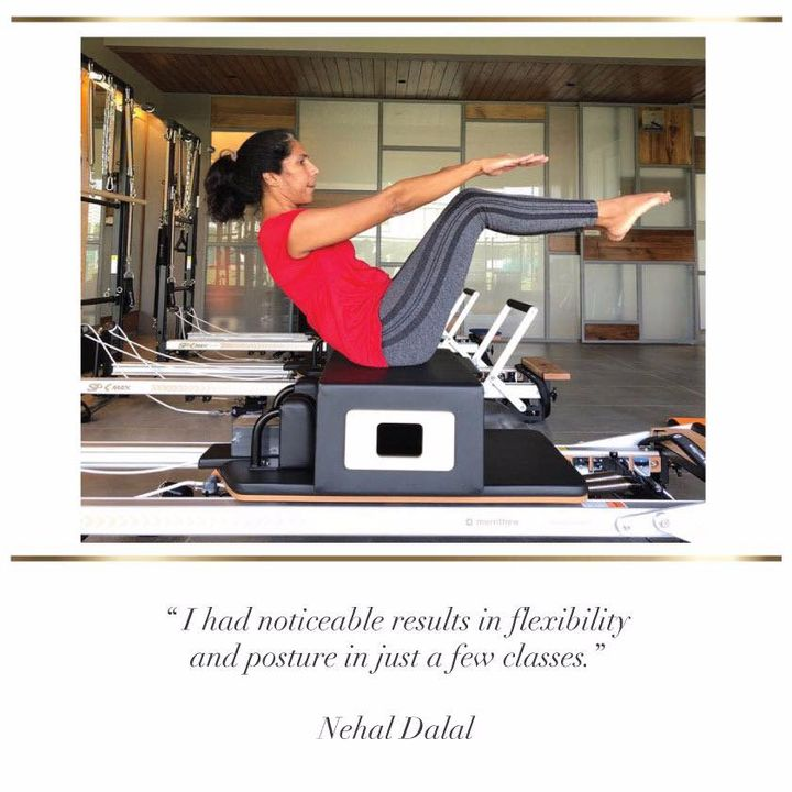#SundayStories: @nehal.dalal is on her way to becoming a #PilatesGirl!  She is determined to stay in shape and seems to have lost quite a few pounds! 💪🏼   Here's what she has to say about Pilates   Contact us for queries on: 9099433422/07940040991 www.pilatesaltitude.com