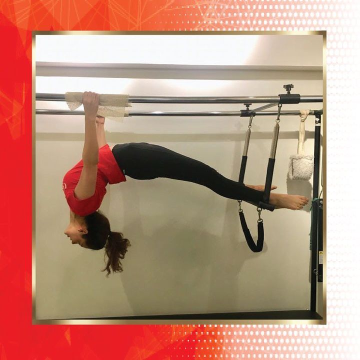 We've got that #FridayFeeling with @team_kangana_ranaut doing the #PilatesSpreadEagle so beautifully on the Cadillac! ❤️ . . . Contact us for queries on: 9099433422/07940040991 www.pilatesaltitude.com . . . #Ahmedabad #Fitness #FitIndia #TrainSmart #Pilates #Exercise #KanganaRanaut #BollywoodFitness #BollywoodFitnessTrainer #Relax #FitnessMotivation #InstaFit #StottPilates #FitnessStudio #Fitspo #ThePilatesStudio #Strength #pilates #Workout  #india #igers #insta #fitnessjourney #beingfit #healthylifestyle #fitnessfreak  #celebritytrainer @kanganaranautfanclub @kanganaranautmemes @kangana.ranaut.fanpage @kanganaaranaut