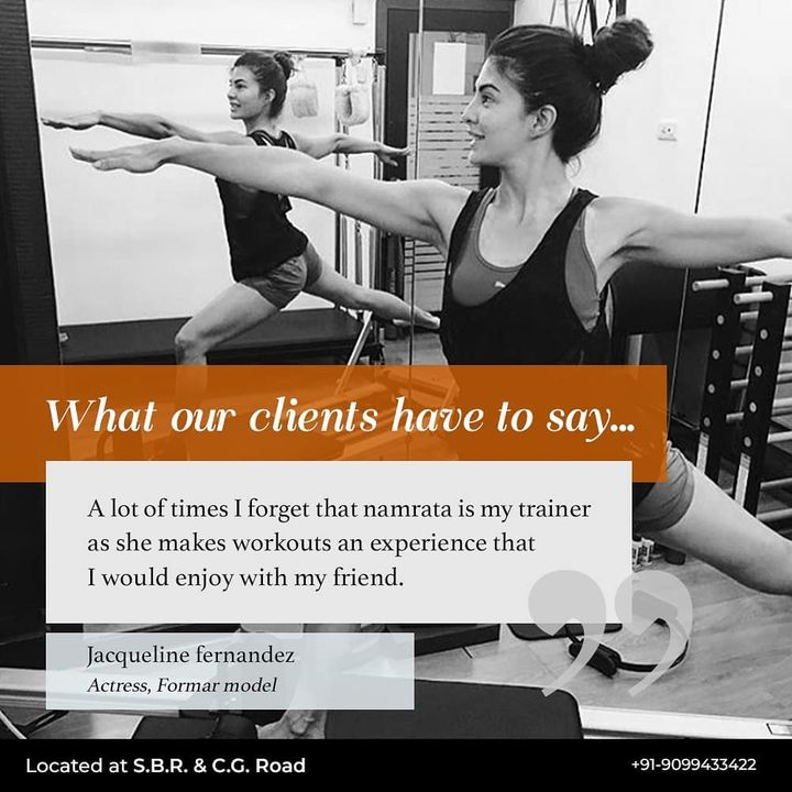 The Pilates Studio,  ClientDiaries:, Namrata, Jacqueline, Ahmedabad, AhmedabadFitness, Fitness, India, FitnessEnthusiast, Fitness, workout, fit, thursday, mondaymotivation, celebrity, InstaFit, FitnessStudio, Fitspo, Workout, WorkoutMotivation, fitness, pilatesgirl, pilatesbody, thepilatesstudioahmedabad, celebritytrainer, gettingbettereachday, fitnessforever, workhard