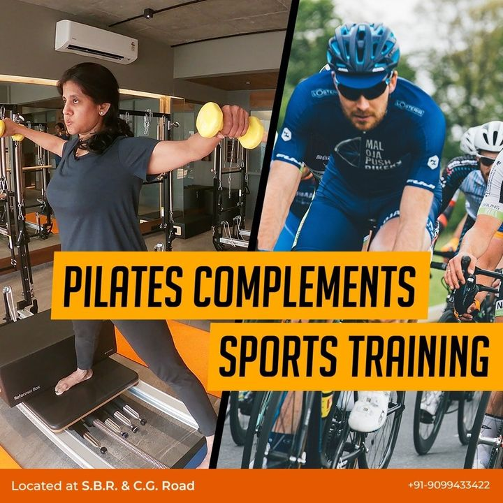 #DidYouKnow how #Pilates complements #SportsTraining?  1.It is an overall fitness Builder  2.It builds body awareness & focus  3.Pilates helps prevent injuries  4.Pilates not only works on the superficial muscles of the body but also the deeper muscles of the body  5.Pilates helps to identify any imbalances in the muscular development and will enable both your body and your mind to function more efficiently  6.Pilates builds a foundation of strength, flexibility and control that will help create a balanced body and improves athletic performance  Contact us for queries on: 9099433412/ 9099433422/07940040991 www.pilatesaltitude.com . . . . #Pilates #PilatesCommunity #Fitness #FitnessEnthusiasts #HealthTips #EatHealthy #Stretch #WorkOut #ThePilatesStudio #Graceful #Relax #FitnessMotivation #InstaFit #StottPilates #FitnessStudio #Fitspo
