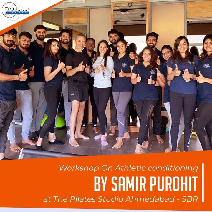 Mr. @samir.purohit (Co Founder of The Pilates Studio) with the  @thepilatesstudioahmedabad - SBR Team. He conducted a Workshop On Athletic Conditioning which is mainly done on the Stability Chair, Flexibar and Circulates. . . Contact us for queries on: 9099433422/07940040991 www.pilatesaltitude.com . . #Pilates #ThePilatesStudio  #CelebrityTrainer  #FitnessEnthusiast #Fitness #workout #fit #followtrain  #celebrity #InstaFit #FitnessStudio #Fitspo  #Workout #WorkoutMotivation #fitness  #pilatesgirl #pilatesbody  #followmeplease #igers #fitnessforever #workhard #workhardplayhard