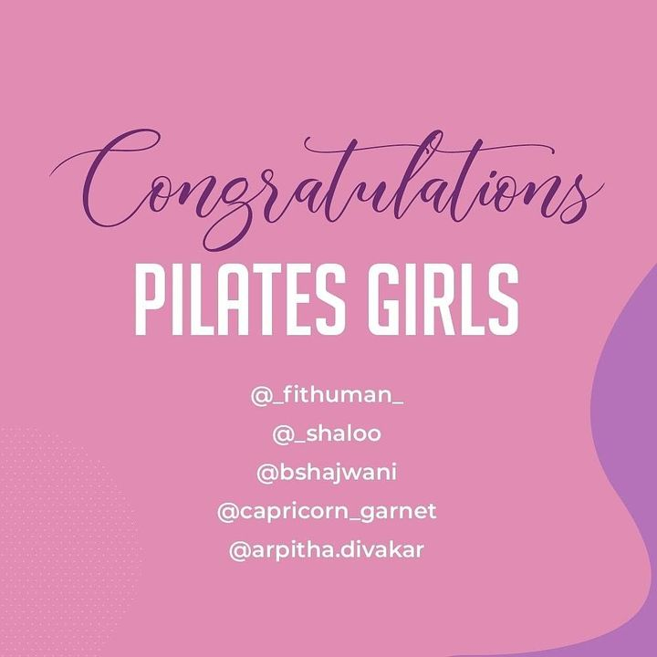 We are happy to announce the winners of the womens day contest. We had an overwhelming response and it was a difficult task to select only 3 winners. So here we are with 5 winners ❤️ Congratulations to:  @_fithuman_ @_shaloo @bshjwani @capricorn_garnet @arpitha.divakar . . .  #Pilates #PilatesCommunity #Fitness #Stretch #WorkOut #ThePilatesStudio  #FitnessMotivation #InstaFit #FitnessStudio #Fitspo  #ThePilatesStudio #Strength #pilates #Workout #WorkoutMotivation #fitness  #india #igers #insta #fitnessjourney #beingfit #healthylifestyle #fitnessfreak #celebrity #bollywood #celebritytrainer