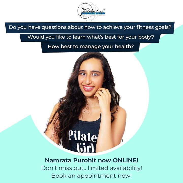 A series of workouts, A wealth of health tips, And results to impress you from the comfort of your home. Let's get started. You can now book an Online Appointment with our Pilates Girl, @namratapurohit ❤️ Log onto: https://namratapurohit.as.me/schedule.php . .  . .  #Pilates #PilatesCommunity #Fitness #FitnessEnthusiasts #HealthTips #EatHealthy #Stretch #WorkOut #ThePilatesStudio #Graceful #Relax #FitnessMotivation #InstaFit #StottPilates #FitnessStudio #Fitspo  #ThePilatesStudio #Strength #pilates #PilatesGirl  #Workout #WorkoutMotivation #fitness