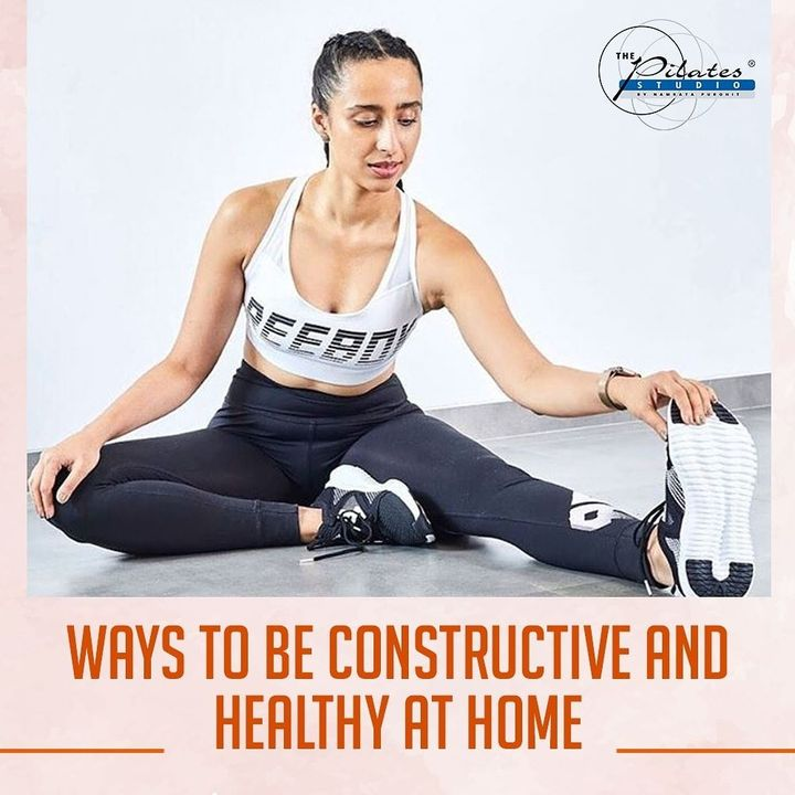 Here are 6 ways to be constructive and Healthy at Home: 1 - Workout Regularly.Train Online 2 - Clean and Declutter 3 - Take up an Online Course  4 - Meditate 5 - Read a Book 6 - Cook and Eat Healthy Meals . . . . . .  #Pilates #PilatesCommunity #Fitness #FitnessEnthusiasts #HealthTips #EatHealthy #Stretch #WorkOut  #Graceful #Relax #FitnessMotivation #InstaFit  #Fitspo  #ThePilatesStudio #Strength  #PilatesGirl  #WorkoutMotivation #fitness #Exercise #WorkoutFromHome #WorkoutAtHome  #strong