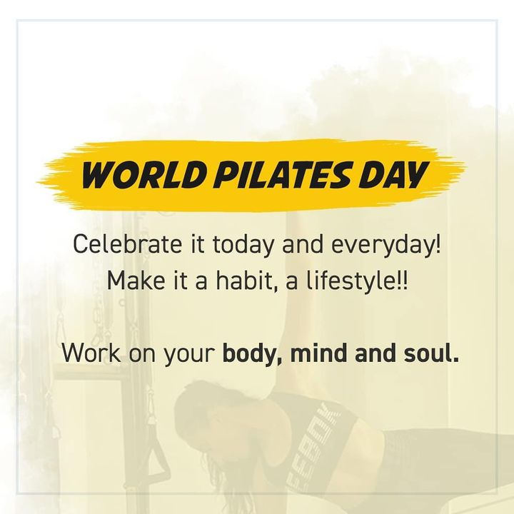 """In 10 sessions you'll feel the difference, in 20 sessions you'll see a difference, and in 30 sessions you'll have a whole new body"" - Joseph Pilates.  Let's celebrate this exceptional exercise method that has transformed many lives  throughout the world for decades💪🏻 #HappyWorldPilatesDay . . . . . .  #Pilates #PilatesCommunity #Fitness #FitnessEnthusiasts #HealthTips #EatHealthy #Stretch #WorkOut  #Graceful #Relax #FitnessMotivation #InstaFit  #Fitspo  #ThePilatesStudio #Strength  #PilatesGirl  #WorkoutMotivation #fitness #Exercise #WorkoutFromHome #WorkoutAtHome  #PilatesDay #InternationalPilatesDay #WorldPilatesDay"