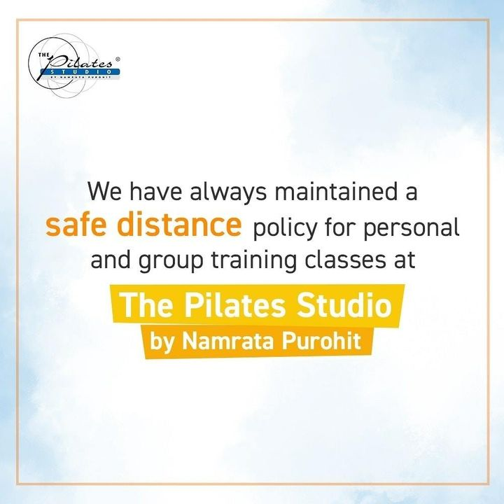 At @thepilatesstudioahmedabad we care about your safety and wellbeing. By following the guidelines and measures we assure a safe environment. It is mandatory for everyone to undergo temperature checks at the studio. Sanitization before entering the studio is of utmost importance. All workout equipments are sanitized with disinfectant before and after each session. . . We are super excited to welcome you and train you! We have ensured the highest standards of safety and taken all the necessary precautions  . . Call/Message/WhatsApp on 90994 33422 to book your session or become a member. . . #Fitness #FitIndia #TrainSmart #Pilates #Exercise #BollywoodFitness #BollywoodFitnessTrainer #WeekdayMotivation #India #FitnessEnthusiasts #HealthTips #EatHealthy #Stretch #WorkOut #ThePilatesStudio #Humfittohindiafit  #strongwomen #FitnessMotivation #InstaFit #exercisemotivation #FitnessStudio #Fitspo #exercise #Strength #love #Workout  #instafitness