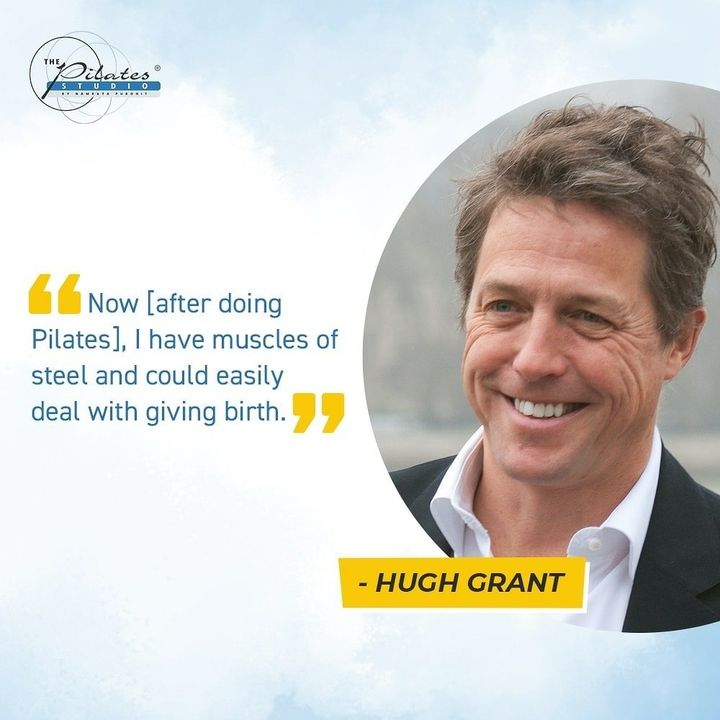 "Hugh Grant is a big fan of Pilates. This is what he mentioned in a magazine interview:  ""I've actually started working on my muscles. By doing Pilates, it helps me stay fit and young.Now [after doing Pilates], I have muscles of steel and could easily deal with giving birth. ""  The actor went on to say he still feels young. Pilates is a great way to regain correct posture, improve core muscles and stamina, and generally build a stronger body. . . Call/Message/WhatsApp on 90994 33422 to book your session or become a member. . . . . .  #Fitness #India #FitnessEnthusiast #Fitness #workout #fit #celebrity #InstaFit #FitnessStudio #Fitspo  #Workout #WorkoutMotivation #fitness  #pilatesgirl #pilatesbody #thepilatesstudio #celebritytrainer #gettingbettereachday #fitnessforever #workhard #workhardplayhard #namratapurohit #igers #humfittohindiafit"