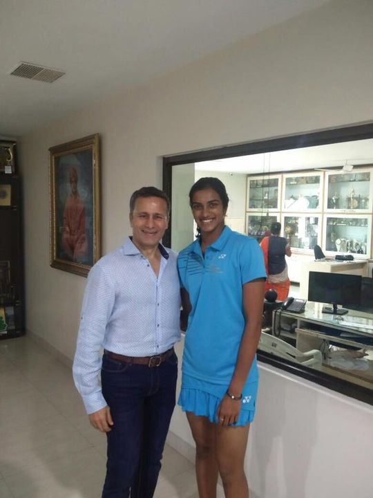 Samir Purohit had the pleasure of meeting and personally congratulating Rio Olympic Silver Medalist P.V.Sindhu during his visit to Hyderabad.   The Pilates Studio - Mumbai was a part of her journey, and trained her before she represented India at the Olympics.   We are very happy to have been a part of her journey to Rio Olympics 2016!