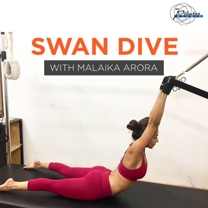 #MalaikaArora in the lovely Swan Dive pose! It is a beautiful Pilates move which has many benefits.  #SwanDive is a #Pilates exercise that works the back, abdominals, glutes, hamstrings, and hip extensors and also the shoulder stabilisers and scapular. It is an intermediate to advanced move that one must work up to.  Contact us for queries on: 9099433422/07940040991 http://www.pilatesaltitude.com