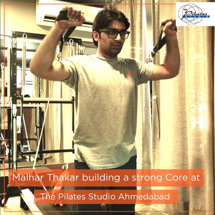 Malhar Thakar working and building a strong core at The Pilates Studio - Ahmedabad! He's getting ready for his upcoming movie release, this Friday!   We wish Malhar Thakar and the entire team of #CashOnDelivery all the very best! :D
