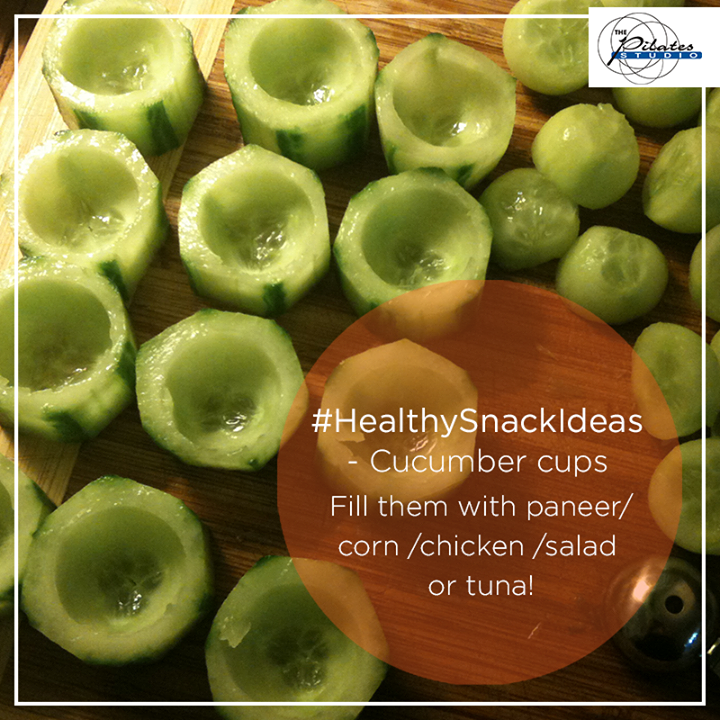 #SundaySpecial - Here's a #HealthySnackIdea you must try at home - Cucumber cups!  Scoop out the mid-section, fill'em up with Salad/ Paneer/ Corn and enjoy! :D  Contact us for queries on: 9099433422/07940040991 http://www.pilatesaltitude.com/
