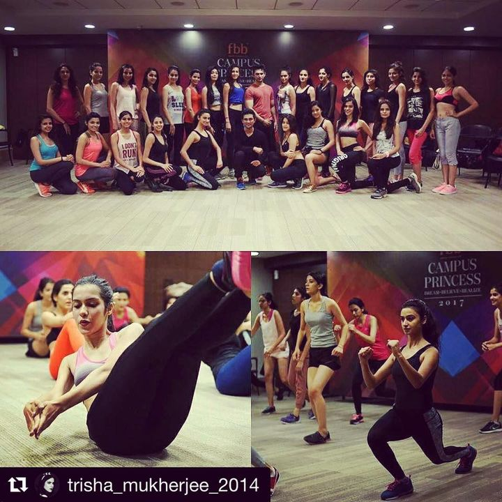 Fbb - India's Fashion Hub Campus Princess 2017 finalists clicked during the functional training with The Pilates Studio - Mumbai (india) team.  . . . . . . . #CampusPrincess2017 #Fitness
