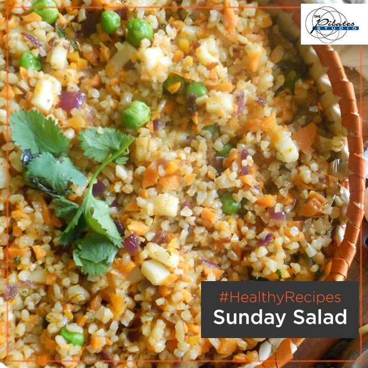 We know, we know it's the #Weekend. But let's not forget our health goals in that excitement.   Here's a #HealthySundayRecipe for you! :-D  #SundaySaladRecipe - Mix some cooked dalia/ broken wheat with boiled veggies like carrot, corn, red cabbage, pumpkin and peas. Dress it up with lemon, salt and pepper to taste.  Contact us for queries on: 9099433422/07940040991 http://www.pilatesaltitude.com