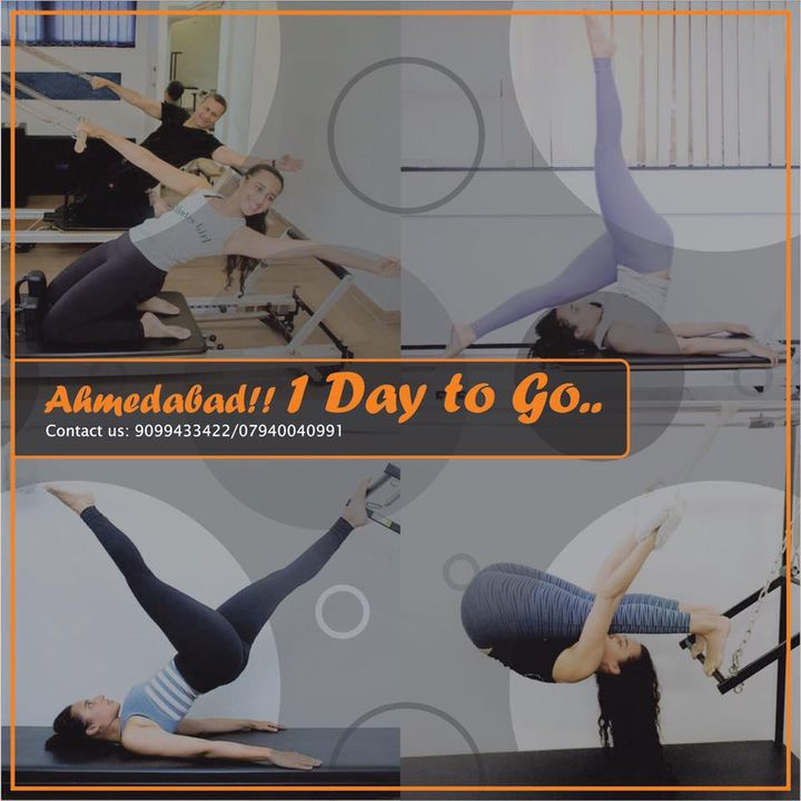 Just 1 day to go for the opening of The Pilates Studio at SBR... Ahmedabad are you ready for this!? 😁💪🏼  Call us now on :9099433422/07940040991 to find out more! www.pilatesaltitude.com