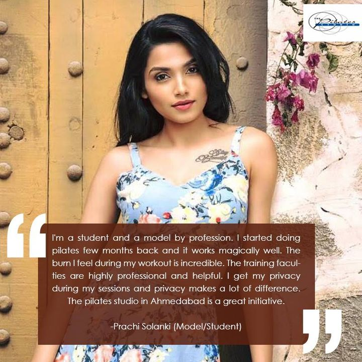 #SaturdayStories: Thank You Prachi solanki for your comments and feedback!   Continue training hard and we wish you the very best! :)  Contact us for queries on: 9099433422/07940040991 www.pilatesahmedabad.in