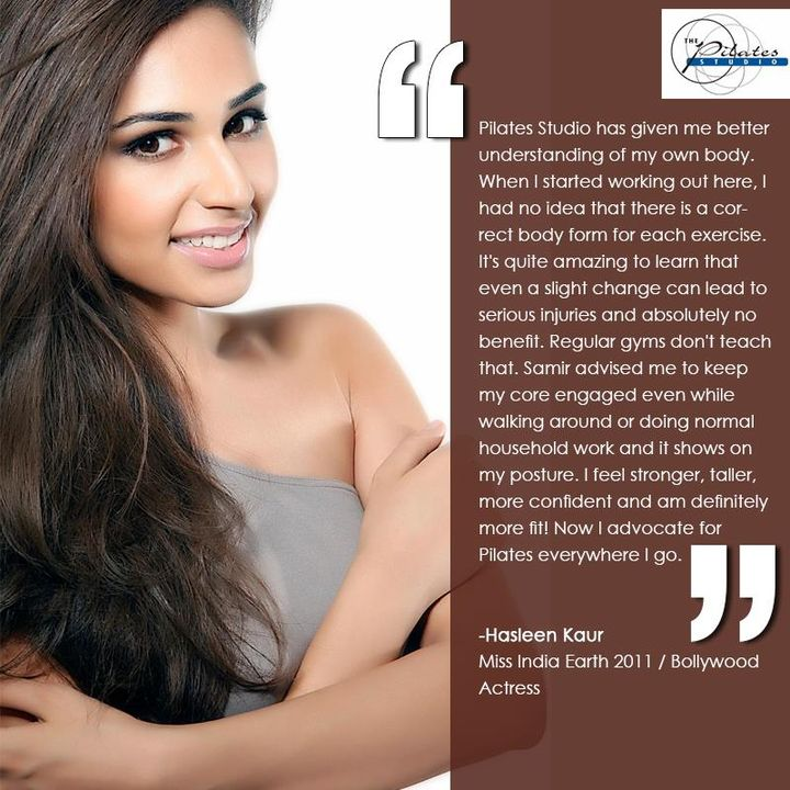 #ClientDiaries:)  The ever so gorgeous, #MissIndiaEarth'11, Hasleen Kaur, tells us how Mr. Samir Purohit, her fitness instructor trained her to remain fit, strong and confident!   To know more read below :-  Contact us for queries on:  9099433422/07940040991 www.pilatesahmedabad.in
