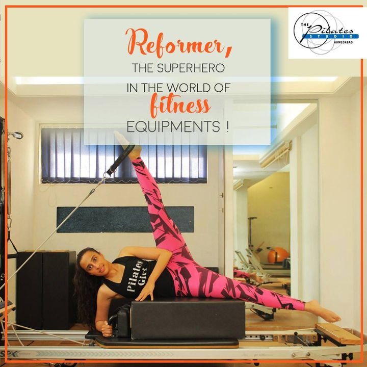 The reformer really does reform your body! 🤸🏼‍♀  With over a 100 exercises that can be done on it, it is the superhero in the world of Fitness equipments!💪🏼  One of the best things about the reformer is its versatility. Anyone at any fitness level can get an amazing workout on the reformer.  Contact us for queries on: 9099433422/07940040991 www.pilatesahmedabad.in