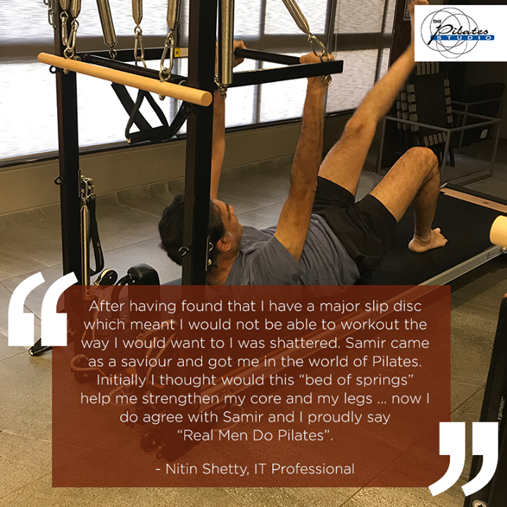 #ClientDiaries: Here's what, Nitin Shetty has to say about #Pilates and his Fitness Instructor, Mr. Samir Purohit.   He tells us how Pilates helped him overcome his Slip disc! 👇🏻  Contact us for queries on: 9099433422/07940040991 www.pilatesahmedabad.in