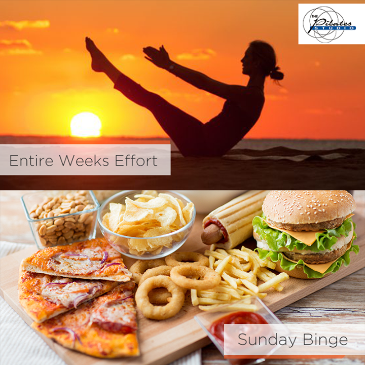 Don't undo the entire weeks effort with your Sunday binge. #ModerationIsKey 💪🏼  For queries and bookings, please contact us: 9099433422/07940040991 www.pilatesahmedabad.in