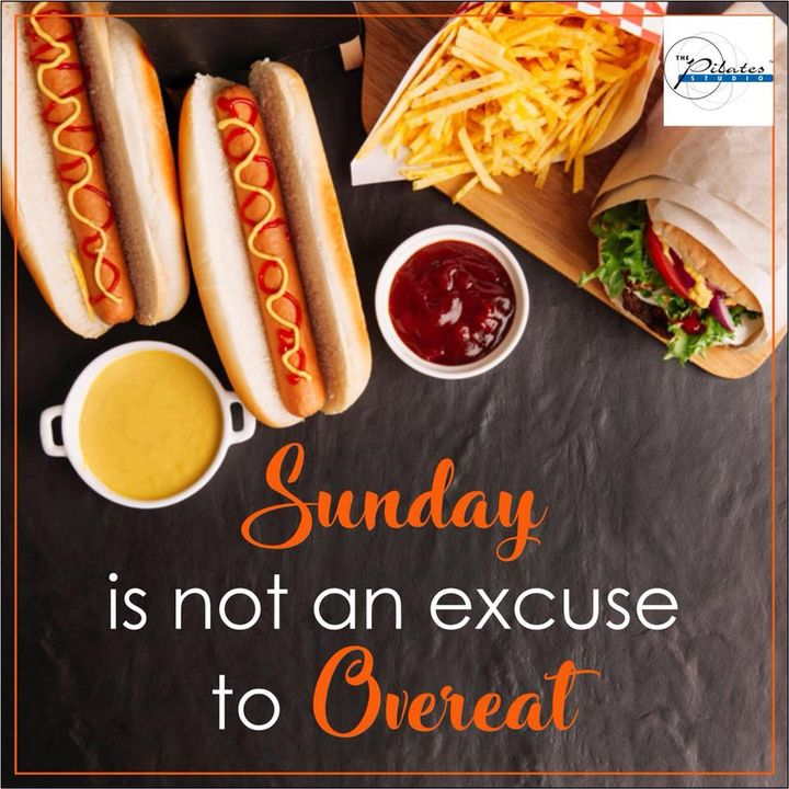 Don't undo the entire week's effort with your Sunday binge. #ModerationIsKey 👍  Contact us for queries on: 9099433422/07940040991 www.pilatesaltitude.com
