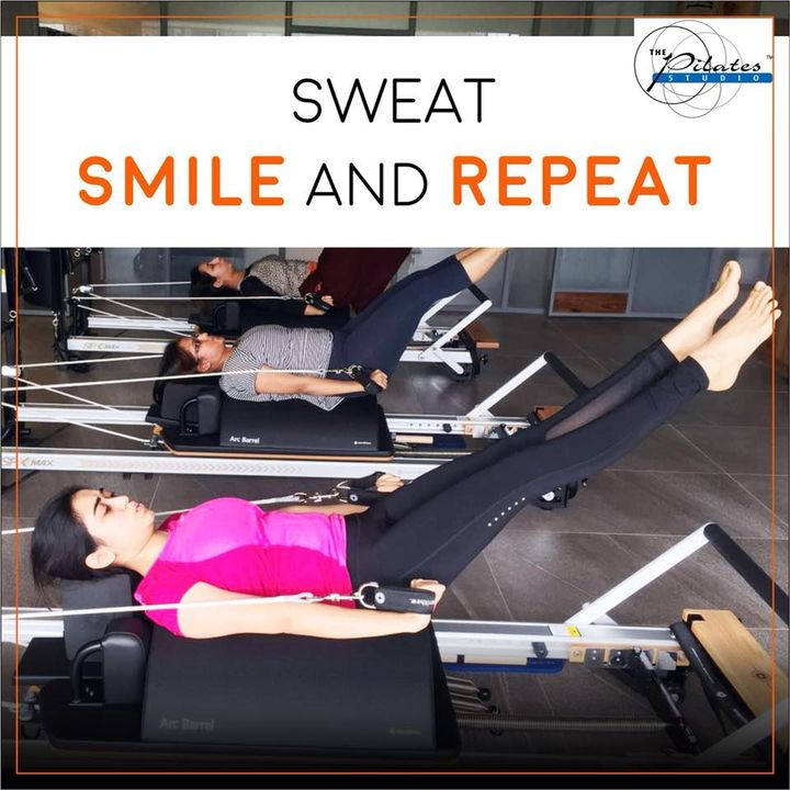 Weekends are not an Excuse to give up on your Goals! 🙈  #Sweat #Smile & #Repeat 🤸🏼‍♀️💖   If you want to experience this, then do contact us to book a slot on:9099433422/07940040991 www.pilatesaltitude.com