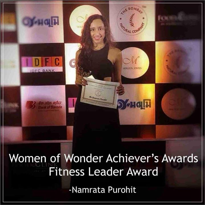 "She's Strong. She's Powerful. She's Multifaceted and She's a Hard working Woman.  She is a beacon of light,Life and Inspiration. Yes she's none other than NamrataPurohit❤️  She's a perfect example of a modern woman taking on the world with her capabilities and hard work. A perfect daughter, friend and perfect in what she ever does!   #NamrataPurohit dedicates this award ""Women of Wonder Achiever's Awards - Fitness Leader Award, "" to all the women who want to achieve their dreams and who come out stronger!   Go and achieve what you want!  Be a fighter and not a victim.  Happy Women's day to all ! ❤️"