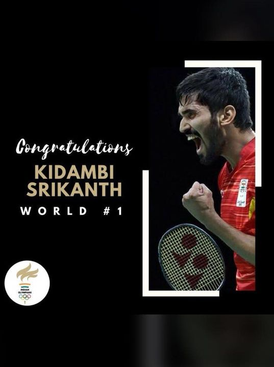 Indian badminton star and our Pilates Boy Srikanth Kidambi on Thursday became world No. 1 in the Badminton World Federation (BWF) rankings.  Congratulations Srikanth, The Studio Family is super proud of you And we wish you more success in your future endeavours🤗