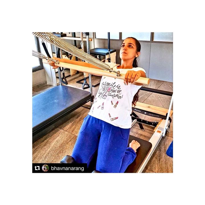 #ClientDiaries @bhavnanarang says  switching over to a new workout is fun!   She surely had an amazing pilates session at @thepilatesstudioahmedabad and says it's a great place to stay fit! ☺  Thank you Bhavna for the lovely feedback ♥️  Contact us for queries on: 9099433422/07940040991 www.pilatesaltitude.com