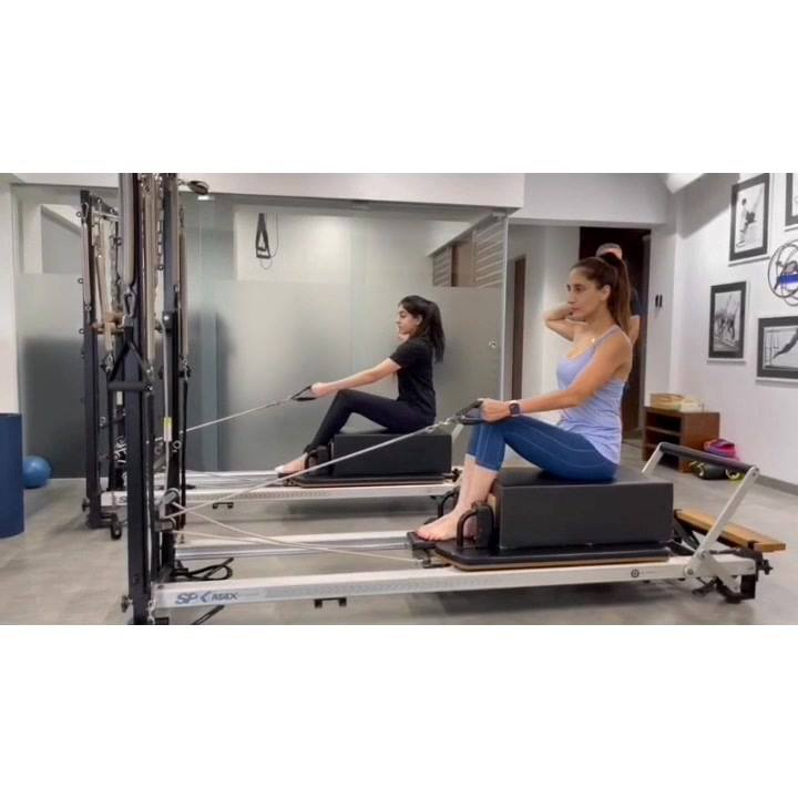"""""""Mother and Daughter"""" working out at The Pilates Studio. 💕 Keep going girls. 💪🏻 #FitFam  . . Contact us for queries on:  9099433422/07940040991 www.pilatesaltitude.com . . .  #Fitness #India #FitnessEnthusiast #Fitness #workout #fit #celebrity #InstaFit #FitnessStudio #Fitspo  #Workout #WorkoutMotivation #fitness  #pilatesgirl #pilatesbody #thepilatesstudio  #celebritytrainer #gettingbettereachday #fitnessforever #workhard #workhardplayhard #namratapurohit #igers #humfittohindiafit"""