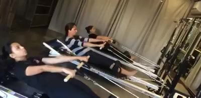 Working out with the Maple Pole!  Well done Nupur Hisaria,  Monisha Amin Desai and Stuti Shah !   Morning 9am Batch - Working Hard towards becoming Pilates Girls!!!   #pilatesstrength #trainsmart #corestability #pilatesgirl