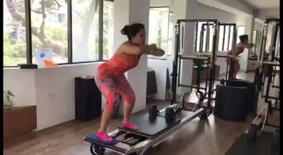 Fitness is not about being better than someone else. It's about being better than you used to be.  Our client is doing the Abductor workout with squats so effortlessly. Way to go girl! 👏🏼💪🏼   Contact us for queries on: 9099433422/07940040991 www.pilatesaltitude.com