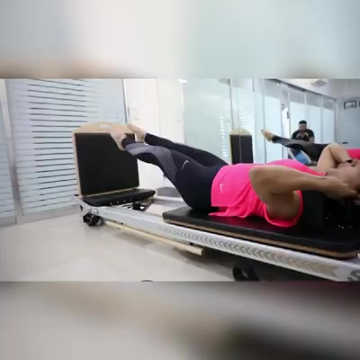 Indian Playback Singer -  Neeti Mohan is doing a solid workout at #ThePilatesStudio.  She's doing the Cardio Tramp on the reformer!! 🤸🏼‍♀️💪🏼   Contact us for queries on:  9099433422/07940040991 www.pilatesaltitude.com